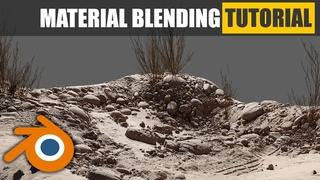 Blender Vertex Color height blend material tutorial - Learn how to blend materials in Evee & Cycles
