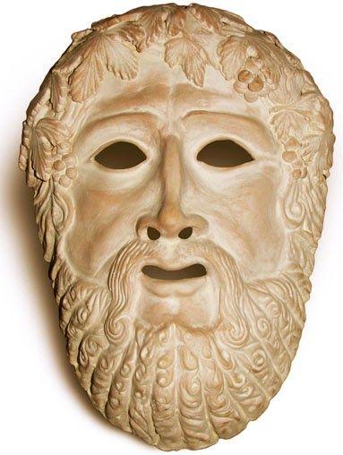 пример античной маски Древней Греции