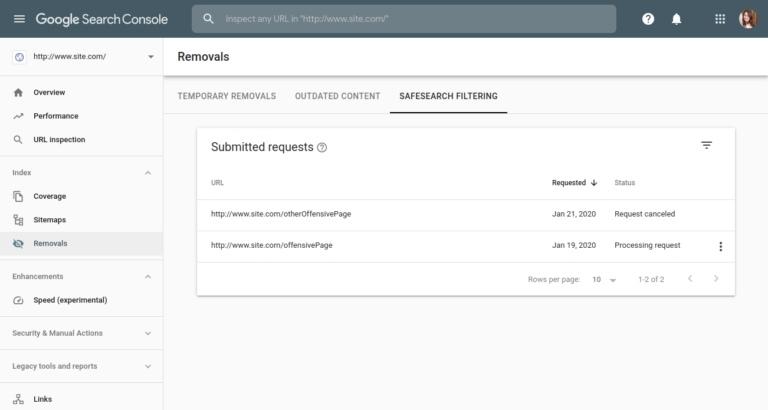 Google делает возможным временное удаление сайтов из результатов поиска, изображение №4