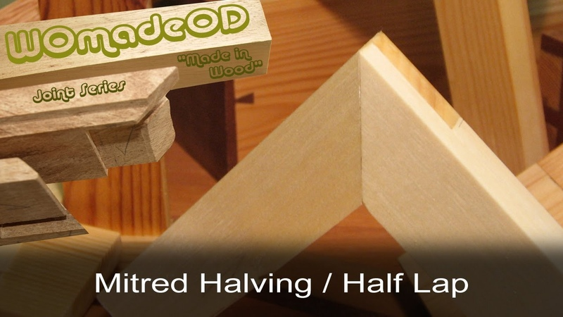 Mitred Halving Joint a k a Mitred Half Lap Lapped Mitre Joint