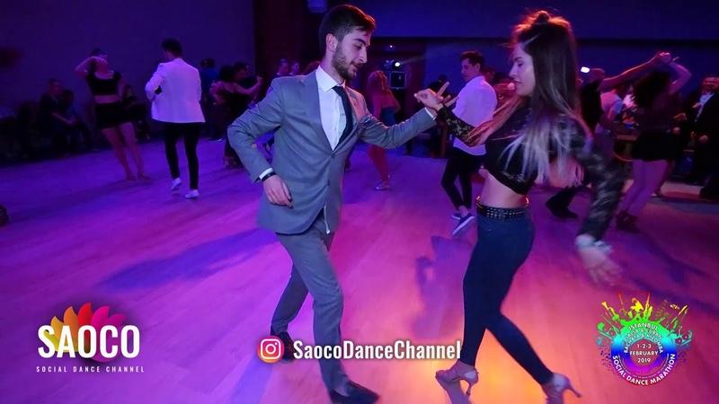 Mert Kılı and Alize Canbulat Salsa Dancing at Istanbul Social Dance Marathon 2019 Sat 02.02.2019