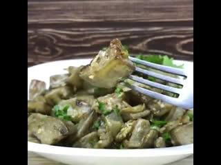Жареные баклажаны, по вкусу как грибы.