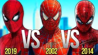 НОВЫЙ ЧЕЛОВЕК ПАУК VS ЧЕЛОВЕК ПАУК 2002 VS ЧЕЛОВЕК-ПАУК 2019 | СУПЕР РЭП БИТВА | Spiderman Movie