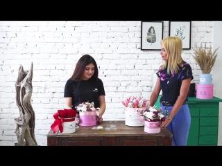 Цветы в шляпных коробках - о их создании, и студии флористики RoyalRose Пермь