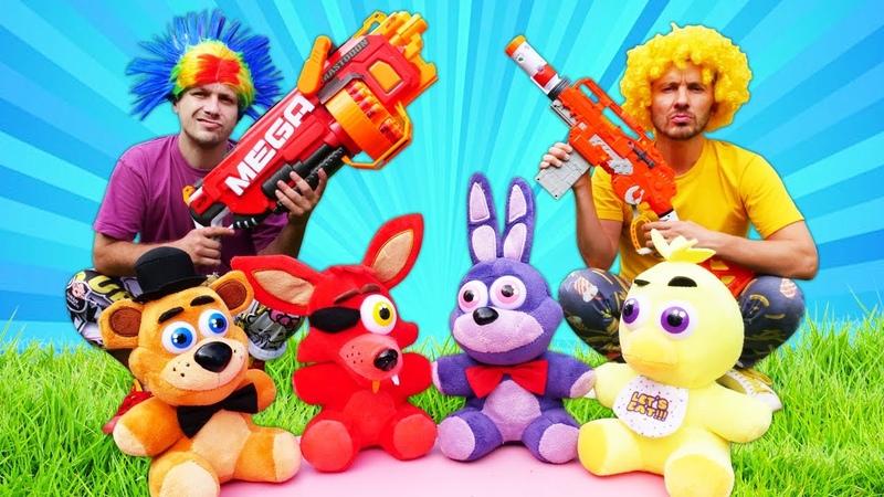 Brinquedos Nerf contra jogos de computador Mega Jogadores Vídeos de jogos para crianças