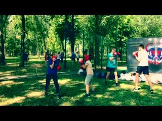 Секция бокса в парках Самары