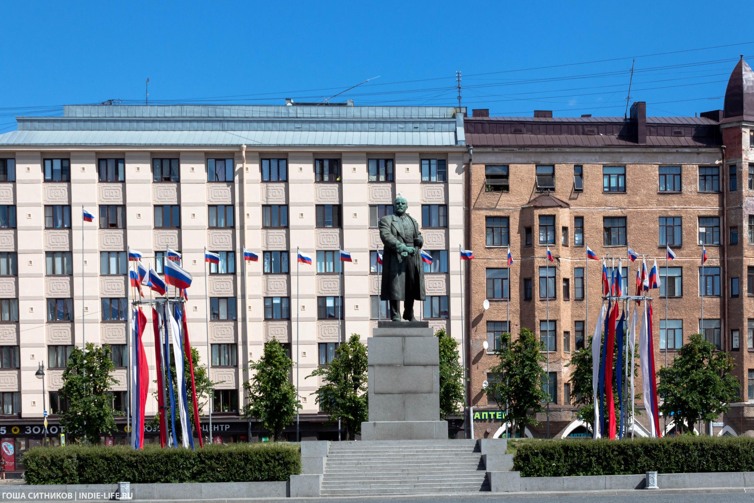 Выборг Памятник Ленину
