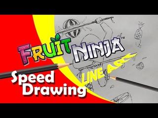 Fruit ninja/ Speed drawing / Line Art