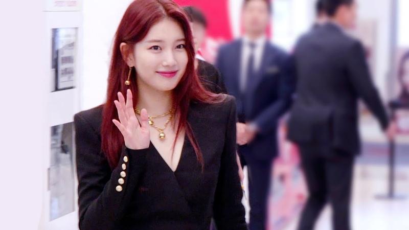 190823 붉게 염색한 수지 Red hair SUZY 직캠 4K @ 랑콤 런칭 행사