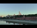 Stock-footage-view-of-the-moscow-kremlin-by-a-sunny-morning-moscow-river-and-moscow-transport 1