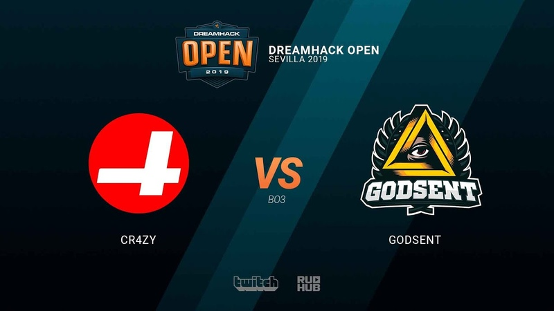 CR4ZY vs GODSENT - DH Open Sevilla 2019 - map2 - de_train [SleepSomeWhile MintGod]