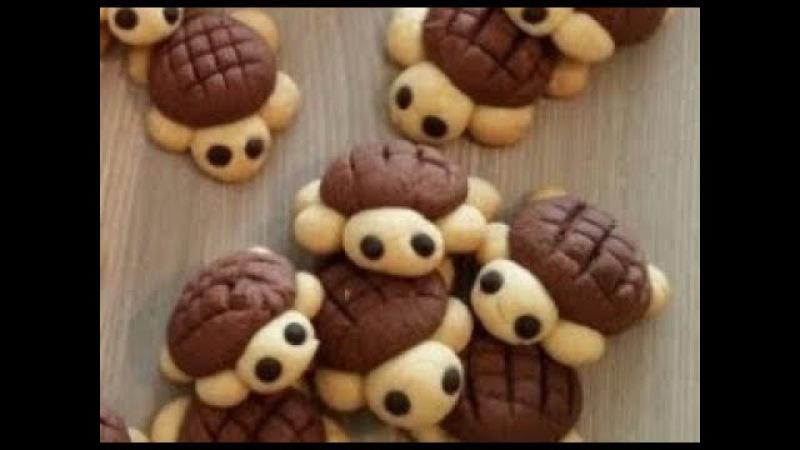 Забавные печенье черепашки Funny bug turtle biscuits