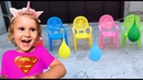 Папа пальчик детская песенка Изучаем цвета с шариками Super Eva