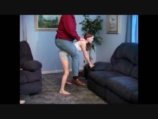 Skinny girl lifts fat guy
