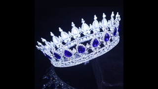 Большая королевская тиара и короны, свадебная диадема, женские украшения для волос на выпускной