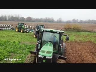 3x john deere ploughing _ 8r  7r lemken _ belgium(1)
