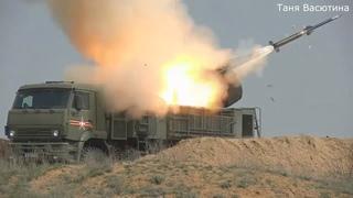 #ЗРПК#Панцирь-С1#Бой с вертолетами#Ми-24#Крокодил#Стрельба#Ракетная#Пушечная#