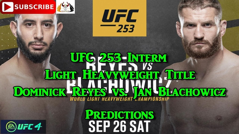 UFC 253 Light Heavyweight Title Dominick Reyes vs Jan Blachowicz Predictions EA Sports UFC 4