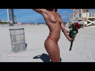 Valentines Day Part 2 -  Bitchinbubba  (Voyeur, Exhibitionism, Public Nudity,  Flashing, Brunette, Shaved, Braless,  Upskirt