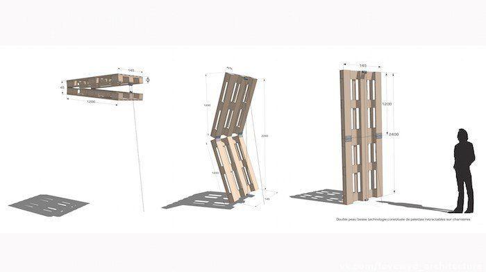Фасад для студенческого общежития из транспортных поддонов / Stephane Malka