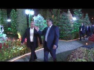 Как Эмомали Рахмон встречал глав стран ОДКБ в Таджикистан Душанбе