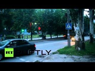 Ополченцы переместились из Славянска и Краматорска в Донецк