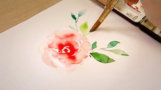 How to Paint Watercolor / Flower Painting Tutorial