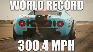 WORLD'S FASTEST STREET-LEGAL CAR BREAKS 300 MPH IN A STANDING MILE AT THE TEXAS MILE!!!