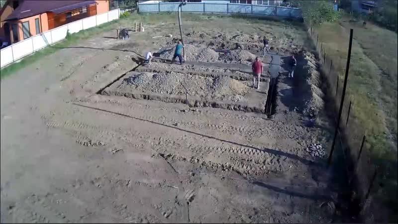 Видеоотчёт по первому этапу строительства дома в Белореченске 1 mp4