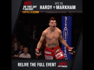 On this day in 2009 hardy vs. markham