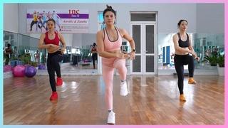 Toned & Slim Thighs in 7 DAYS | 20 Minute Beginner Leg Workout (Aerobic Dance) | Eva Fitness