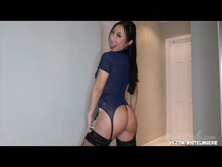 Nicole Doshi - Bad cop Sexy Costumes lingerie chinese girl glamorous stockings asian hot ass tits Onlyfans Patreon нижнее белье
