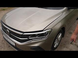VW Polo 2020, замена фары по гарантии, подушка безопасности, расход масла, пробег 13800км за 6 мес.