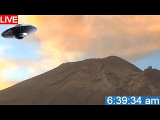LIVE UFO WATCH AT POPOCATEPETL VOLCANO IN MEXICO