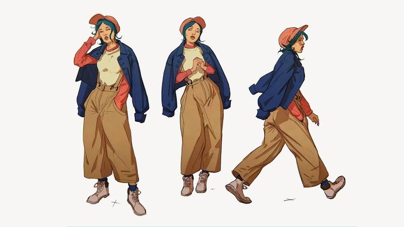 Daily Sketching 03 Costume studies IPadPro Procreate Art