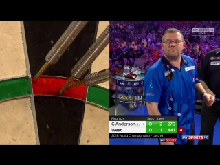 Gary Anderson vs Steve West (PDC World Darts Championship 2018 / Round 3)
