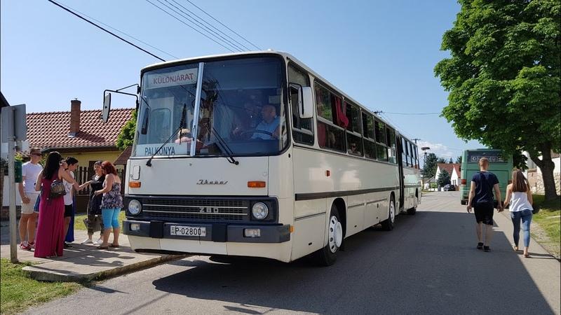 A GOX os Ikarus 280 fordul a Palkonyai templomnál