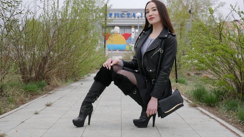 Christina's Gianmarco Lorenzi high heels OTK boots Size 38 Кристина Кожина May 14 2018