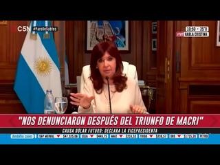 "Dólar futuro   Declaró la vicepresidenta Cristina Kirchner: ""El lawfare sigue en su pleno apogeo"""