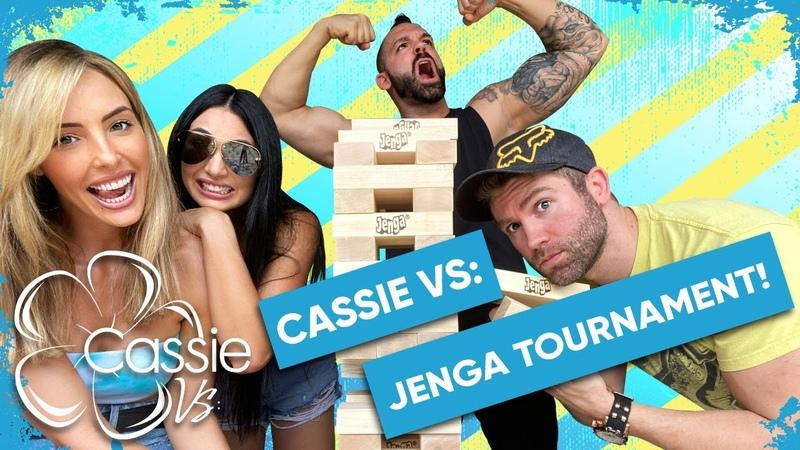 Video@kayroyce | Cassie Vs Jenga Tournament! Starring J. McKay, Spears Strewth!