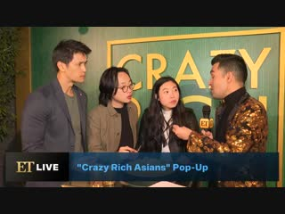 Crazy rich asians stars talk importance of food in asian culture at the restaurant pop-up!