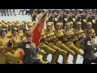 I put some Bee Gees music over North Korean marching / my jam