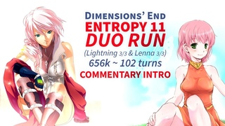 DFFOO GL Dimensions' End ENTROPY 11: DUO RUN Pink-haired Goddesses (Lighting & Lenna, 656k)
