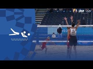 Германия — Польша. Пляжный волейбол (муж). Групповой турнир. Олимпиада-2020