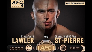 AFC 4 Welterweight Title Fight @markbarkov(Georges St-Pierre) vs @imonster35(Robbie Lawler)