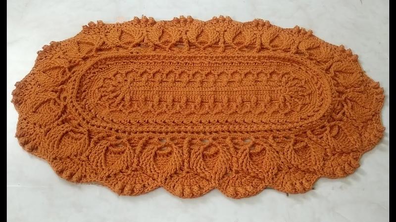 Crochet mandala rug 18 3D pattern part 1 2 alfombra casera de ganchillo crochet tapis à la maison