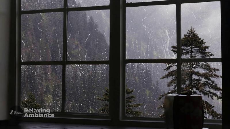 Rain On Window with Thunder SoundsㅣHeavy Rain for Sleep Study and Relaxation