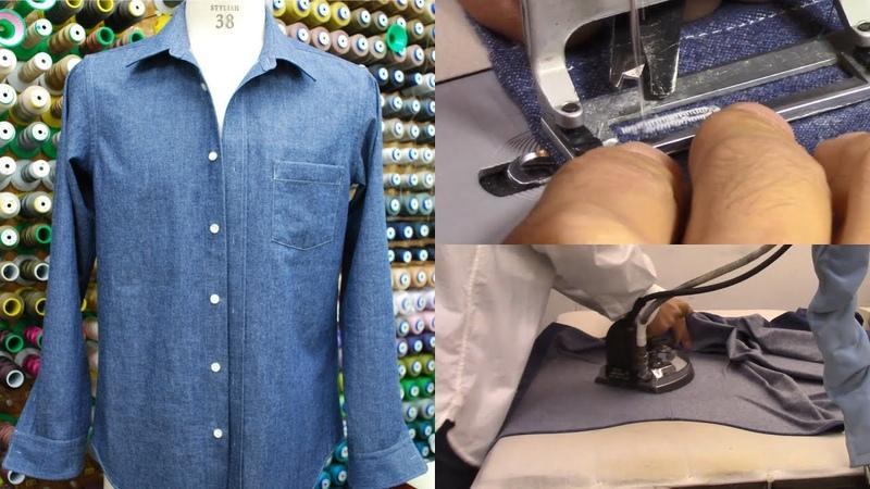 シャツの作り方・縫い方 Part7 「ボタンホール穴かがり 仕上げアイロン