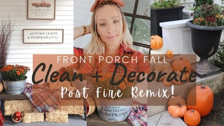 🍂 FALL FRONT PORCH MAKEOVER + CLEAN AND DECORATE WITH ME! 🍂 ULTIMATE DEEP CLEAN + DECORATE