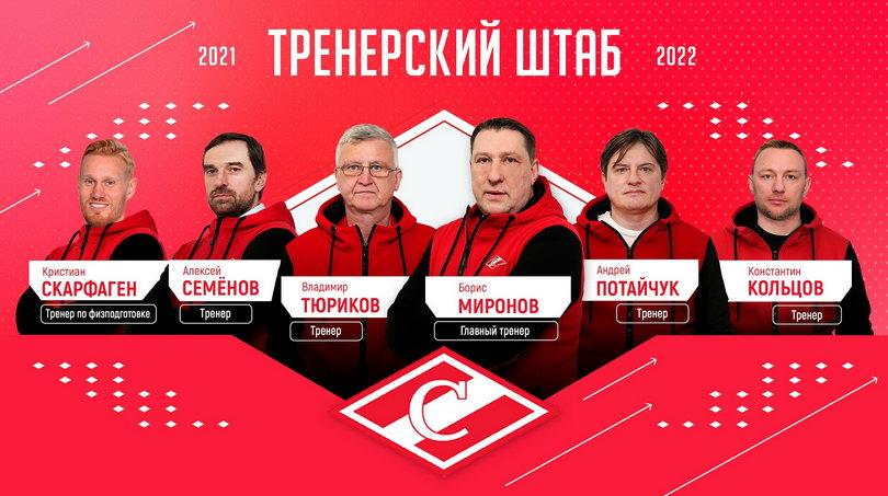 Руководство «Спартака» утвердило помощников Бориса Миронова